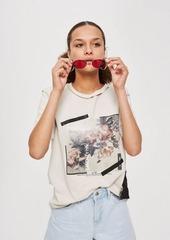 Topshop Tall Photo Floral T Shirt
