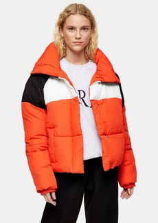 Topshop Tall Red Puffer Jacket