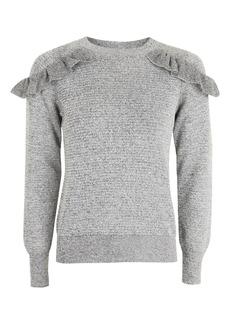 Tall Ruffle Shoulder Knitted Sweatshirt