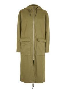 Tall Scarlet Longline Parka Jacket