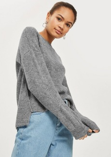 Topshop Tall Seam Mohair Cropped Sweater