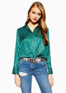 Topshop Tall Self Stripe Shirt