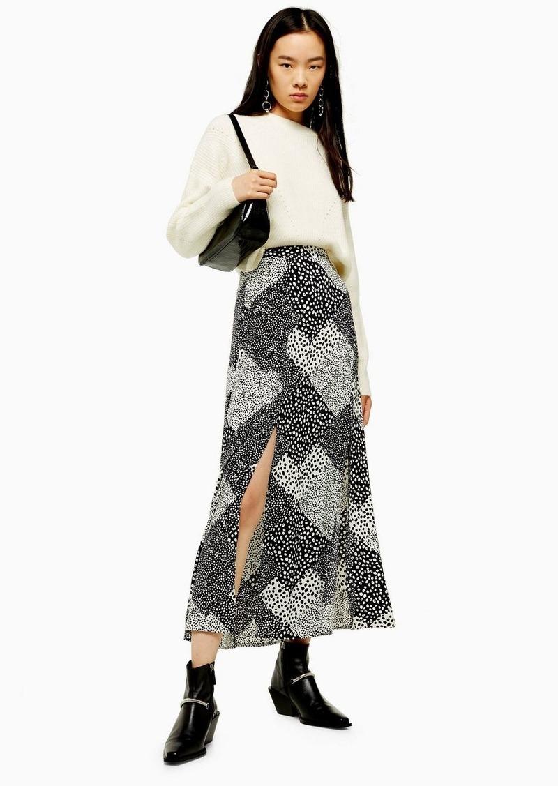 Tall Spot Midi Skirt