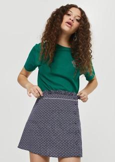 Tall Spotted Ruffle Mini Skirt