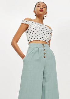 Topshop Tall Strappy Gypsy Cropped Top