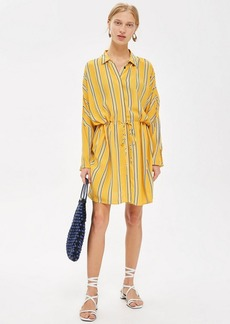 Topshop Tall Stripe Drawstring Shift Dress