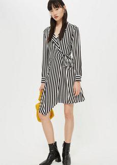 Topshop Tall Stripe Mini Shirt Dress