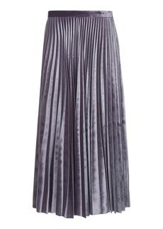 Tall Velvet Pleat Midi Skirt