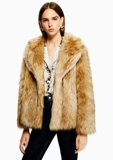 Topshop Tall Vintage Faux Fur Coat