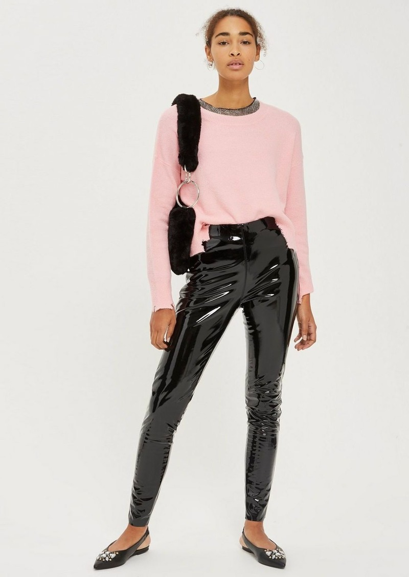 Topshop Tall Vinyl Pants Casual Pants
