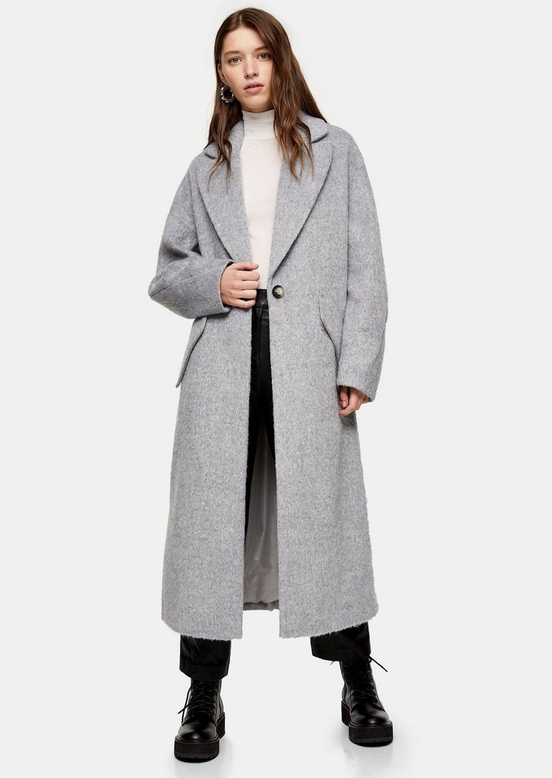 Topshop Tall Grey Slouch Coat