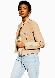 Topshop Tan Suede Jacket