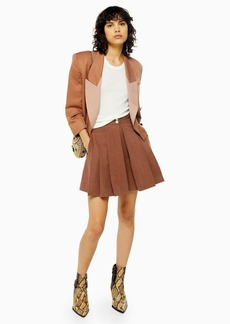 Topshop Taupe Pleated Shorts