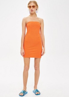 Topshop Textured Bandeau Dress