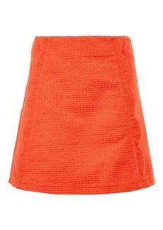 Textured Scallop Pelmet Skirt