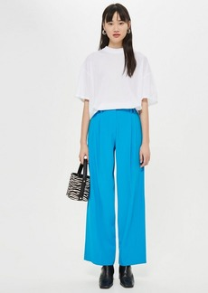 Topshop Textured Wide Leg Trousers