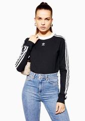 Three Stripe Long Sleeve T Shirt By Adidas
