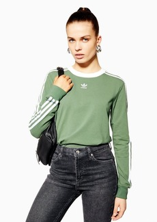 Three Striped Long Sleeve Top By Adidas