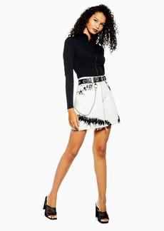 Topshop Tie Dye Denim Mini Skirt
