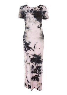 Topshop Tie Dye Lace Up Back Maxi Dress