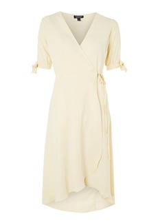 Tie Sleeve Wrap Dress