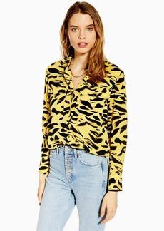 Topshop Tiger Print Shirt