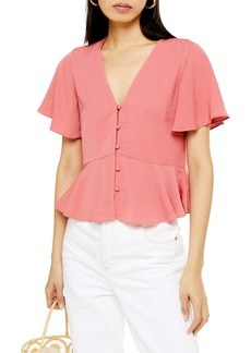 Topshop Meghan Front Button Top