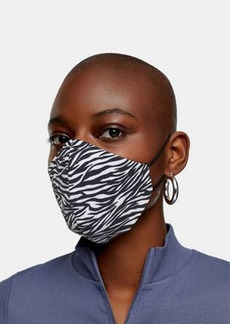 Topshop 2-pack fashion face coverings in zebra and monochrome
