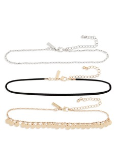 Topshop 3-Pack Choker Necklaces