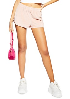 Topshop Acid Velour Runner Shorts