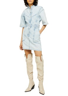 Topshop Acid Wash Denim Dress