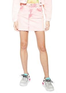 Topshop Acid Wash Denim Skirt