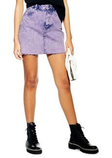 Topshop Acid Wash Miniskirt