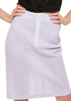 Topshop Airtex Mesh Pencil Skirt
