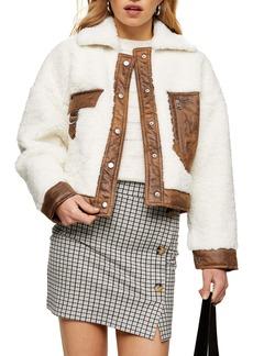 Topshop Allie Borg Western Jacket