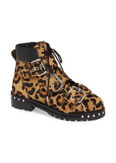 Topshop Animal Genuine Calf Hair Studded Boot (Women)