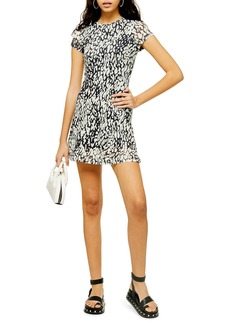 Topshop Animal Mesh Minidress