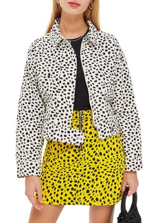 Topshop Animal Print Jacket