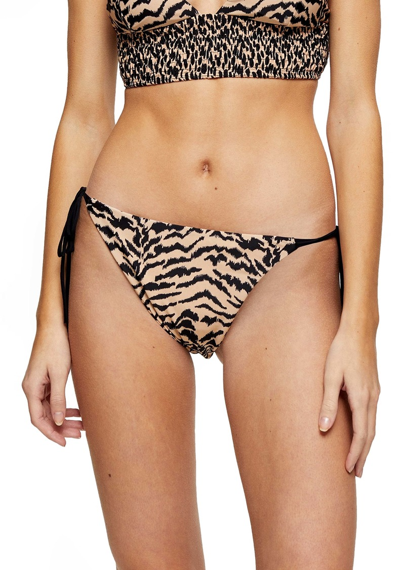 Topshop Animal Reversible Bikini Bottoms