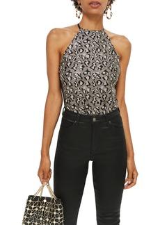 Topshop Animal Sequin Bodysuit