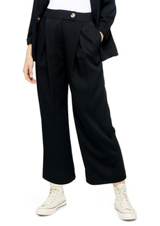 Topshop Anita Wide Leg Cropped Trousers