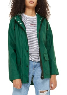 Topshop Annie Hooded Rain Jacket