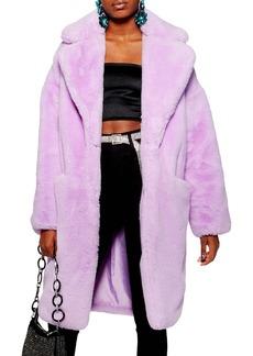 Topshop Anoushka Faux Fur Coat