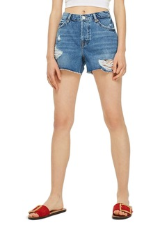 Topshop Ashley Ripped Boyfriend Shorts