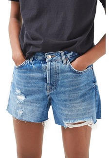 Topshop Ashley Ripped Boyfriend Shorts (Regular & Petite)