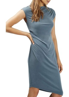 Topshop Asymmetric Slinky Drape Midi Dress (Regular & Petite)