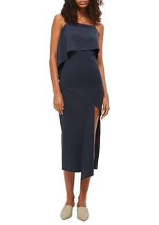 Topshop Asymmetrical Drape Scuba Dress