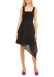 Topshop Asymmetrical Hem Dress
