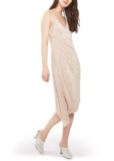 Topshop Asymmetrical Slinky Midi Dress