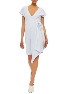 Topshop Asymmetrical Wrap Dress
